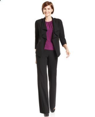 Women's Suits & Suit Separates - #womenssuits&suitseparates - Calvin Klein  Suit Separates Collection - Womens Suits … | Interview attire, Suits for  women, Fashion