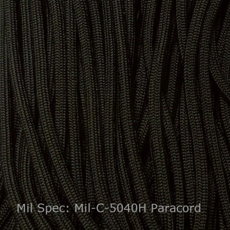 Mil Spec 550 Paracord Black Type Iii Mil C 5040h Made In Usa