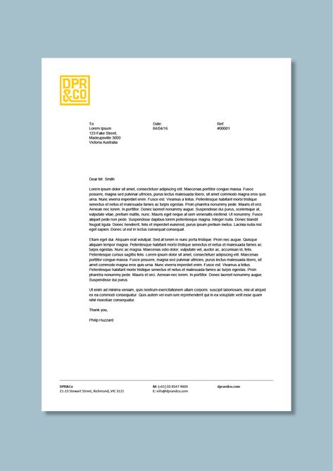Digital advertising agency letterhead #Cordestra #word-letterheads