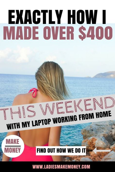 Easy Side Job : How I Made Over $400 In One weekend