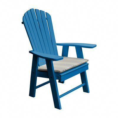 Stalham Upright Plastic Adirondack Chair Color Blue