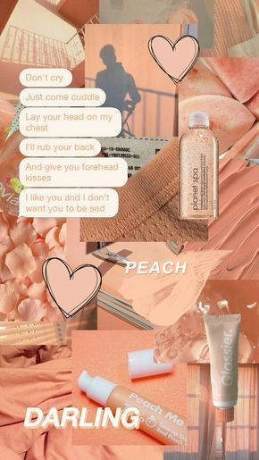 Peachy Aesthetic Collage Wallpapers Peachy Peach Aesthetic