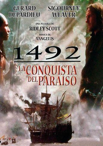 1492 La Conquista Del Paraíso Videograbación Un Film De Ridley Scott Guión Roselyne Bosch M Afiche De Pelicula Carteles De Películas Carteles De Cine