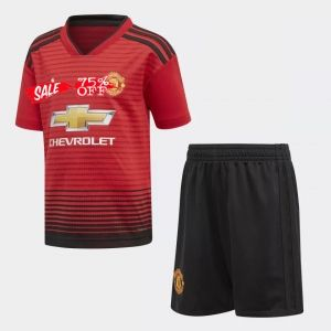 Kids Man United 2018 19 Top Home Kit Football Tops Manchester United Team T Shirts
