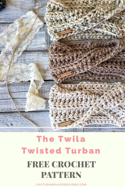 This is a full tutorial for a beginner friendly twisted EarWarmer! Made with simple stitches and chunky yarn, this headband works up in less than an hour! Perfect for market prep! Crochet Simple, Crochet Twist, Chunky Crochet, Chunky Yarn, Double Crochet, Crochet Crafts, Crochet Yarn, Crochet Projects, Free Crochet
