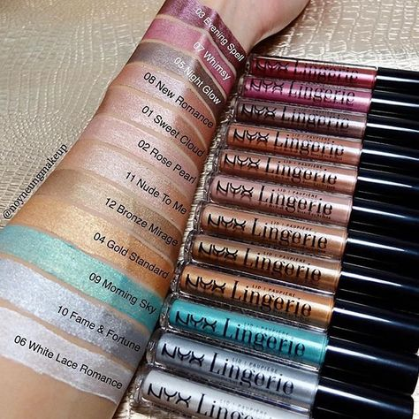 🛍😏 Swatches by @noyneungmakeup 💕 Click the link in our bio to SHOP these goodies! #nyxcosmetics #nyxprofessionalmakeup