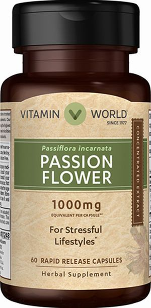 Passion Flower 1000mg Passion Flower Stress Relief Vitamin Vitamin World Stress Relief Vitamins Health And Nutrition Herbalism