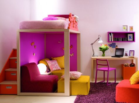 10 Solutions Pour Amenager Le Dessous D Un Lit Mezzanine Elle Decoration Lit Mezzanine Chambre Enfant Idees De Lit