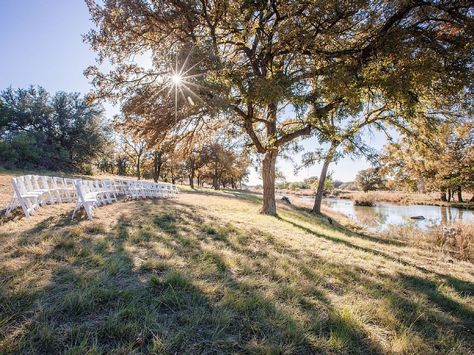 Riverside Ceremony At The Lodge Selah Springs Ranch Wedding Outdoor Texas Venue