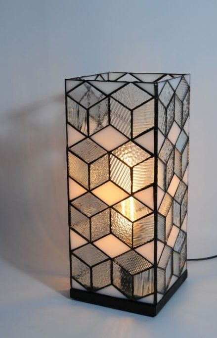 68 Ideas For Diy Lamp Modern Lampshades Diy Stained Glass Candles Stained Glass Light Stained Glass Candle Holders