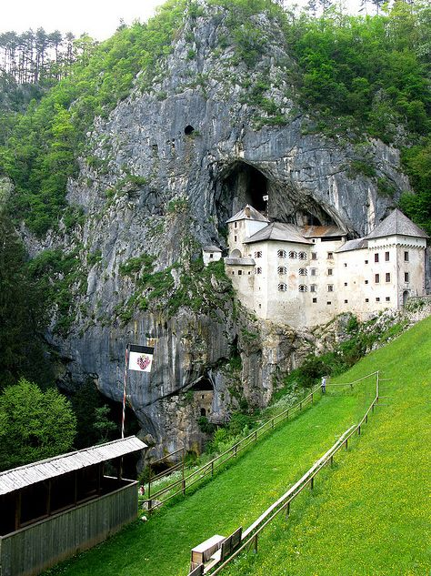 Predjama Castle, Slovenia; saw this place on Ghost Hunters International a while back, it was awesome!