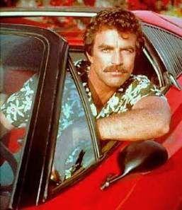 Magnum et sa moustache et son poil sur le torse