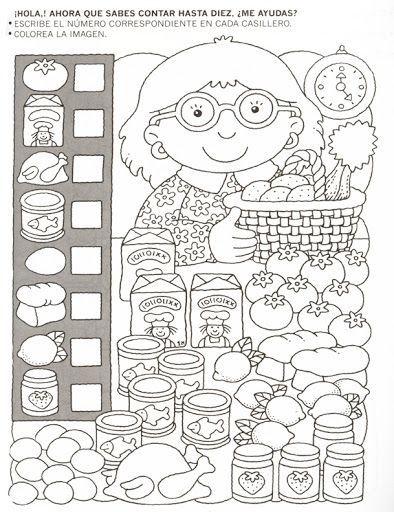 123 Manía: actividades de matemática para imprimir, resolver y colorear - Betiana 1 - Веб-альбомы Picasa Más