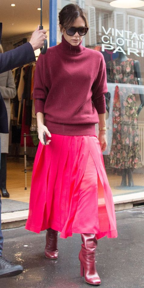 #Beckham #Colorblocking #Pro #Proof #Victoria       The woman has a serious eye for color.