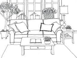 Image Result For One Point Perspective Drawing Living Room Dream