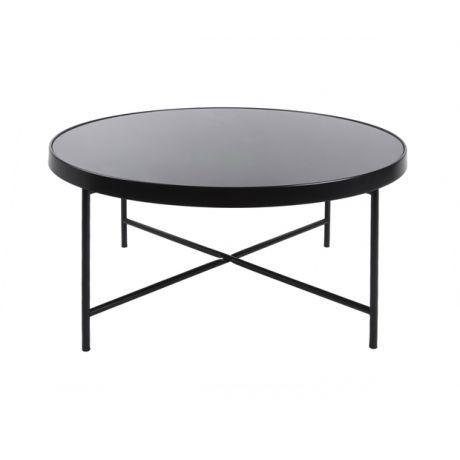 Leitmotiv Beistelltisch Rund Aus Metall Und Glas 82 5cm Schwarz Wohnzimmer Ideen Modern Beistelltisch Rund Ikea Beistelltisch