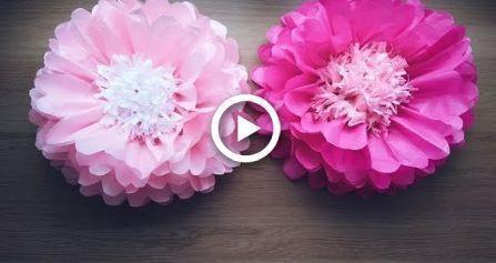Diy Large Paper Flowers Bigpaperflowers Diy Large Porridge