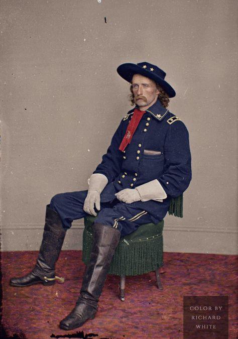1865 GEORGE CUSTER IN UNIFORM PHOTO CIVIL WAR INDIAN WARS BY BRADY ARMY CAVALRY