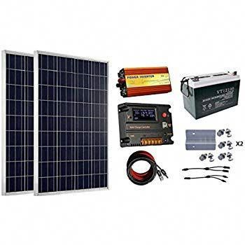 Eco Worthy 200 Watt 2pcs 100 Watt 12v Solar Panel Kit 100ah Agm Battery 20a Controller Charge Controller 10 In 2020 12v Solar Panel Solar Panel Kits Solar Energy