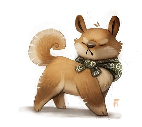 Day 520. Shiba Inu Quickie by Cryptid-Creations.deviantart.com on @deviantART