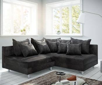 Delifeeu Wohnlandschaft Clovis Xxl Weiss Schwarz Ottomane Rechts Mobel Sofas Wohnlandschaften Clovis Delifeeu Ottomane Rech In 2020 Couch Sofa Design Loft Living
