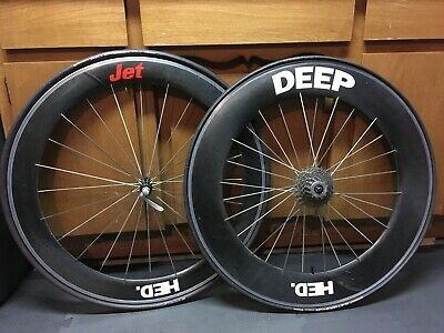 Sponsored Ebay Hed Jet Deep Tubular Wheelset 700c Tires And Cassette Not Included Ebay Bicycle