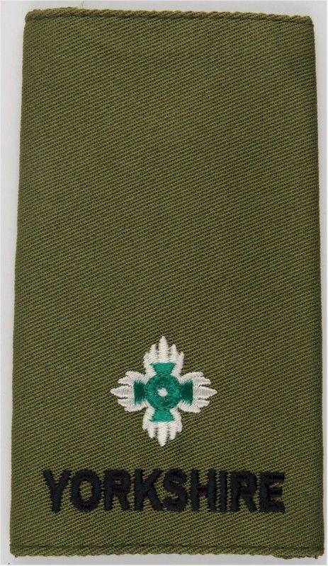 Yorkshire Regiment Second Lieutenant Rank Slide On Olive