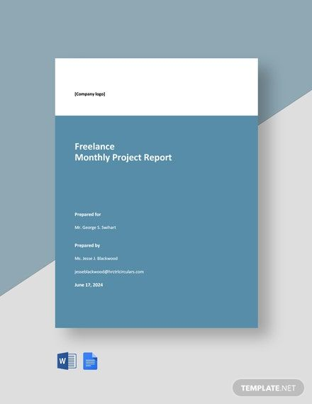 Monthly Freelance Project Report Template Word Doc Google Docs Word Doc Templates Report Template
