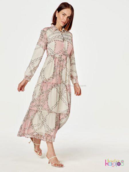 Desenli Uzun Sifon Elbise 2020 Sifon Elbise Elbise Uzun Elbise