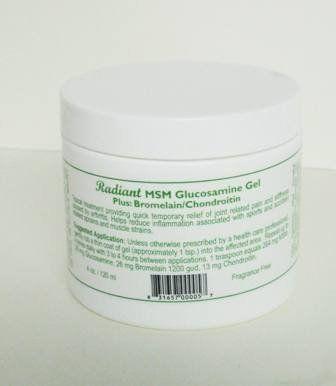 MSM Cream Plus Glucosamine Bromelain and Chrondroitin 4 oz
