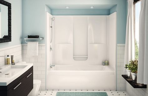 Aker Sbw 3672 One Piece Gelcoated Fiberglass Tub Shower Built In