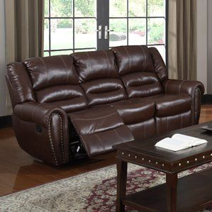 Miraculous Brady Leather Reclining Sofa By Red Barrel Studio Onsale Bralicious Painted Fabric Chair Ideas Braliciousco