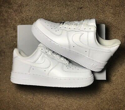 Nike Air Force 1 07 LE Low All Triple White 315115-112 ...