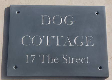 Slate Sign With Grey Letters In 2020 House Name Signs Name
