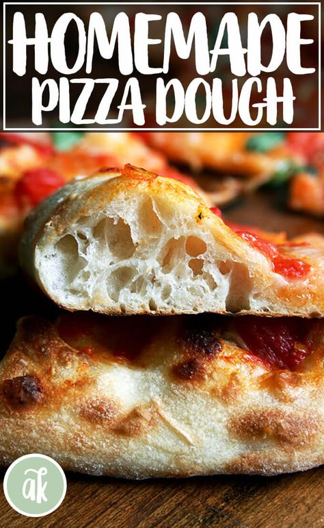 The Baking Steel creates a pizza with a crispy crust and ballooned and blistered outer edge. These two pizza recipes are simple and delicious! Best Pizza Dough Recipe, Italian Pizza Dough Recipe, Homeade Pizza Dough, Pizza Dough Recipes, Homemade Pizza Recipe, Pizza Dough With Yeast, Bread Flour Pizza Dough, Neapolitan Pizza Dough Recipe, Italian Recipes