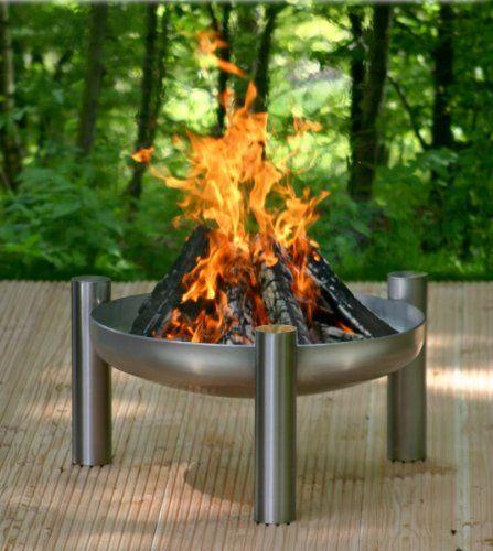 Edelstahl Feuerstelle O 80 Cm Dank Zubehor Kann Die Feuerschale In Einen Grill Verwandelt Werden Gartend Feuerstelle Garten Feuerschalen Garten Feuerstelle