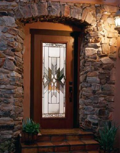 This Entryway Is Beautiful I Love The Wooden Door And The Intricate Glass In The Middle We Need A Ne Steel Doors Exterior Exterior Doors Security Storm Doors