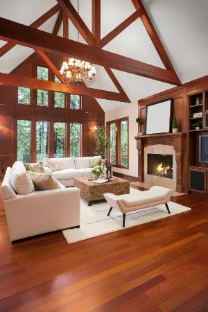 The Best Way To Heat A Home With High Ceilings Vaulted Ceiling Living Room Vaulted Ceiling Lighting Living Room Wood Floor