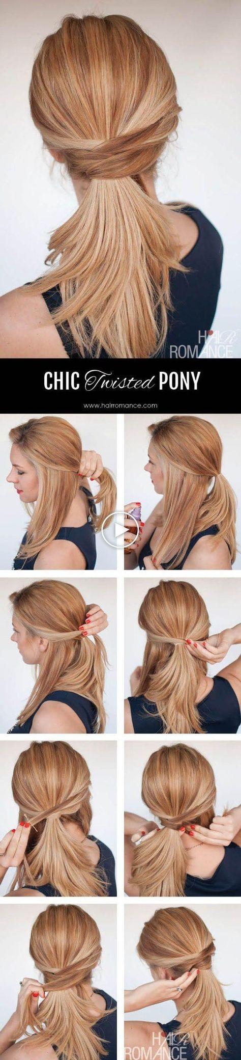20 increíbles tutoriales de cabello de cola de caballo para principiantes