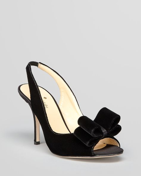 kate spade new york Open Toe Evening Pumps - Charm Bow High Heel ...