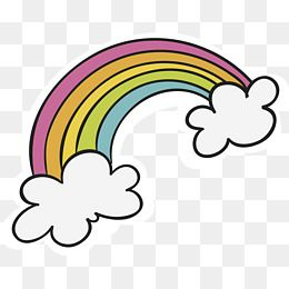 Hand Painted Cloud Rainbow Rainbow Png Watercolor Flower Background Doodle Pages