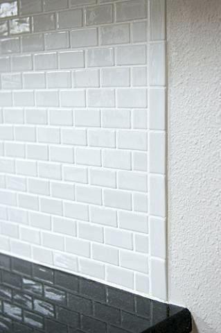 Backsplash Tile Edge You Can Use A Metal Or Edge Or Do Like You