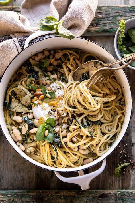 One Pot Creamy Tuscan Pesto and Artichoke Pasta. -  One Pot Creamy Tuscan Pesto and Artichoke Pasta. #pestopasta #healthypestopasta  - #artichoke #Breakfast #creamy #HealthyBreakfasts #ItalianFoods #ItalianRecipes #pasta #pesto #Pot #tuscan