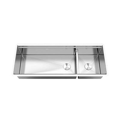 Emoderndecor Workstation 48 In Undermount 16 Gauge Double Bowl