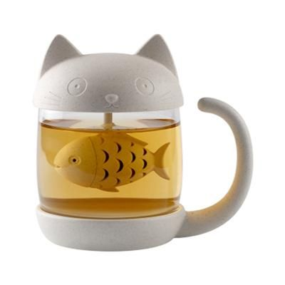 d9e4f1e6ea2 Cute Cat Glass Personality Milk Mugs With Infuser Coffee Creative Mugs –  Gift for Crush | Cat Awesome Collection | Glass tea cups, Cat mug, Coffee  tumbler