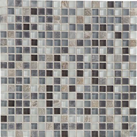 Mosaïque Glass paillette ARTENS, paillette, 22x22 cm Leroy - enlever carrelage salle de bain