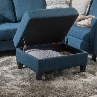 Zahra Tufted Fabric Storage Ottoman By Christopher Knight Home Fabric Storage Ottoman Storage Ottoman Blue Storage Ottoman