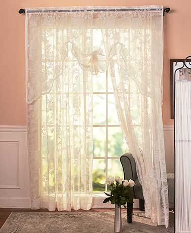 Abbey Rose Vintage Lace Curtain In 2019 Lace Curtains Curtains