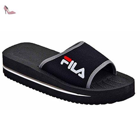 meilleur grossiste Super remise styles de variété de 2019 Fila Tomaia Slipper, noir - Chaussures fila (*Partner-Link ...