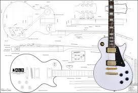 Resultado de imagem para guitar les paul blue print